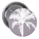 Retro Hawaiian Tropical Palm Tree Vintage Purple Pin