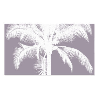 Retro Hawaiian Tropical Palm Tree Vintage Purple Double-Sided Standard Business Cards (Pack Of 100)