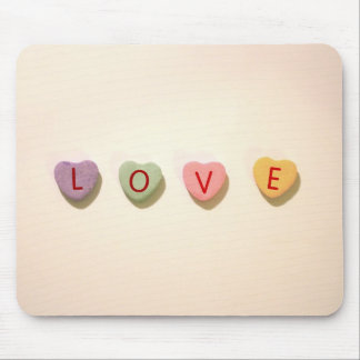 Retro Heart Candy Love Mouse Pad