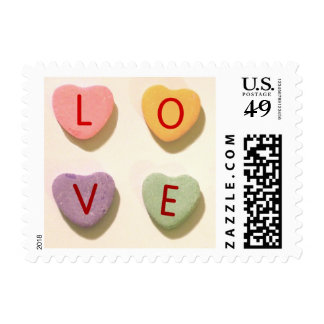 Retro Heart Candy Love Postage