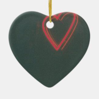 Retro Heart Ceramic Ornament