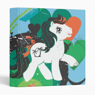 Retro Heart Design Vinyl Binder