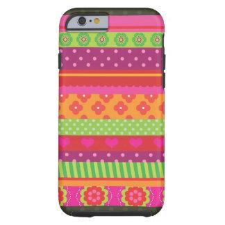 Retro heart flower polka dot design iPhone 6 case