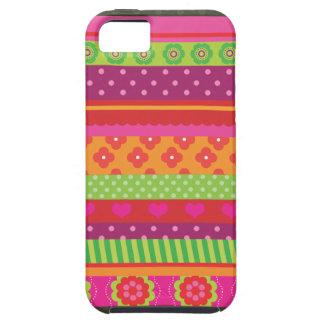 Retro heart flower polka dot design iphone case iPhone 5 cover