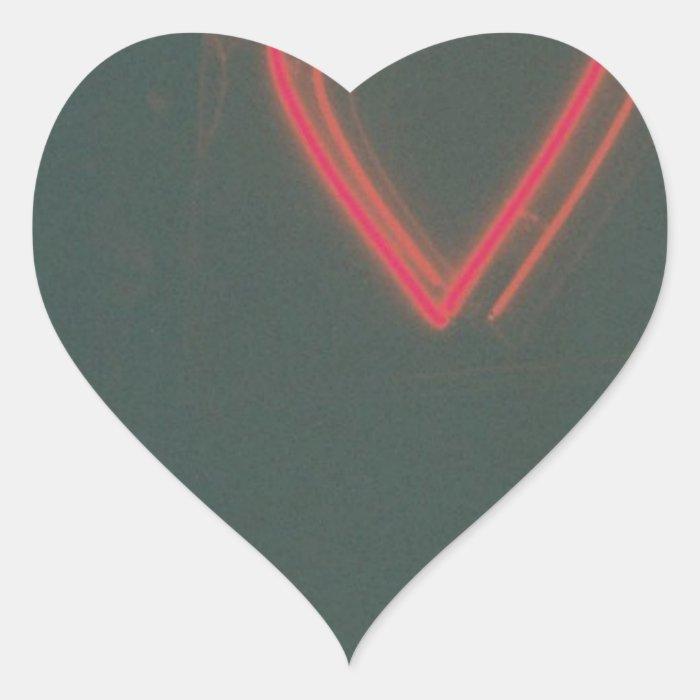 Retro Heart Heart Sticker
