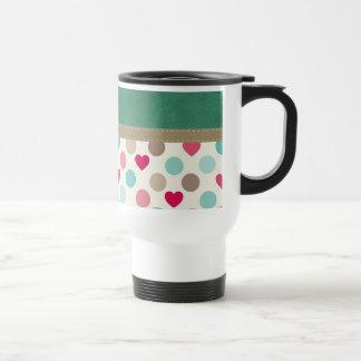 Retro Heart Pattern Coffee Mug