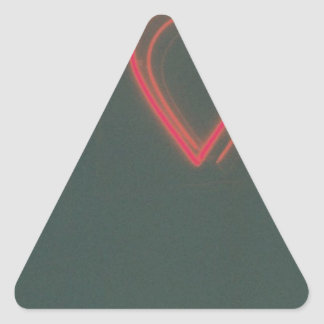 Retro Heart Triangle Sticker