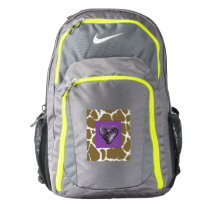 Retro Heart with Animal Print Nike Backpack