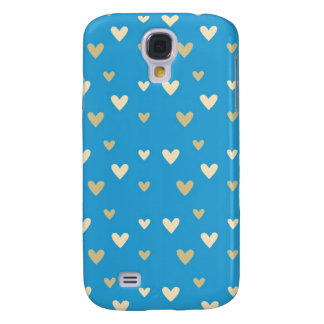 Retro hearts blue candy Fair Isle pattern Samsung Galaxy S4 Case