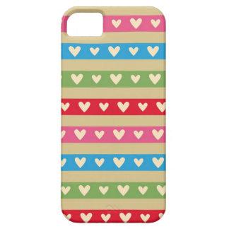 Retro hearts candy striped Fair Isle fairisle iPhone SE/5/5s Case