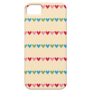 Retro hearts candy striped Fair Isle pattern heart iPhone SE/5/5s Case