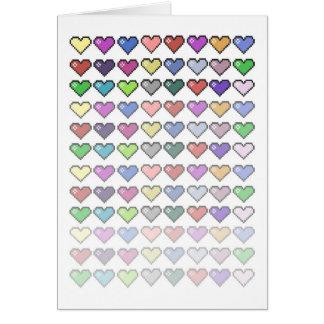 Retro Hearts Greeting Card