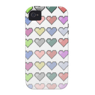 Retro Hearts Case For The iPhone 4