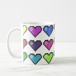 Retro Hearts Coffee Mug