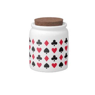 Retro Hearts Diamonds Spades & Clovers Candy Jar