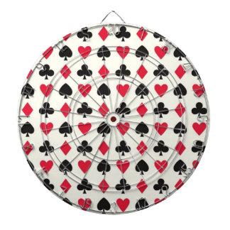 Retro Hearts Diamonds Spades & Clovers Dartboard