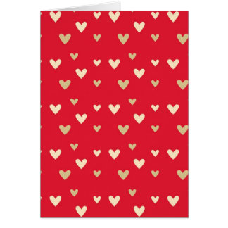 Retro hearts red hot candy stripes card