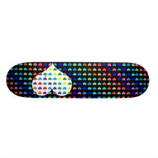Retro Hearts Skateboard
