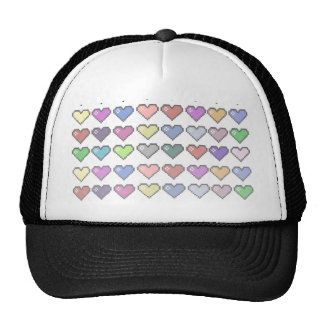 Retro Hearts Trucker Hat