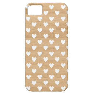 Retro hearts wood background girly heart pattern iPhone SE/5/5s case