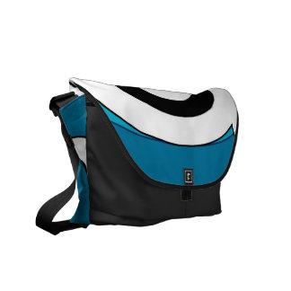 Retro Helix (Blue) Messenger Bag
