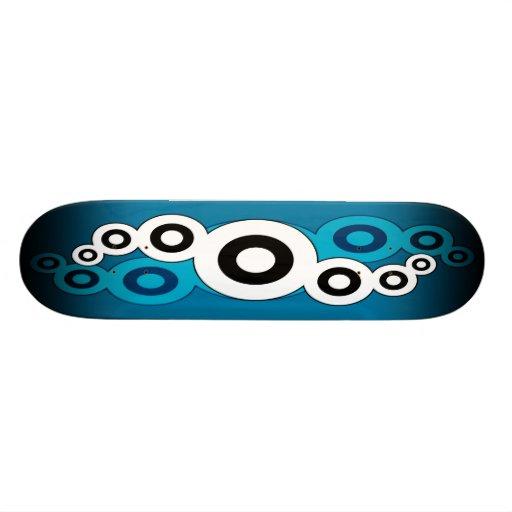 Retro Helix (Blue) Skateboard Deck