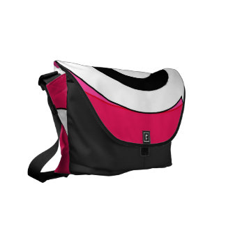 Retro Helix (Magenta) Messenger Bag
