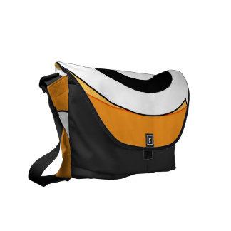 Retro Helix (Orange) Messenger Bag