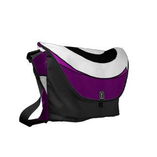 Retro Helix (Purple) Messenger Bag