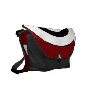 Retro Helix (Red) Messenger Bag