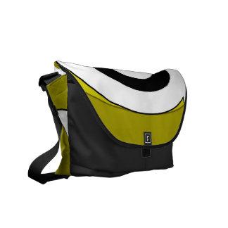 Retro Helix (Yellow) Messenger Bag