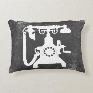 Retro Hello Telephone Pattern Accent Pillow