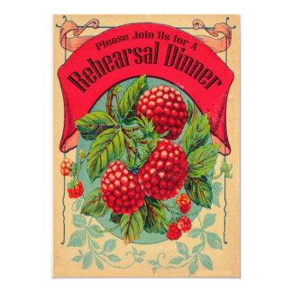retro heritage orchard rehearsal dinner invitation
