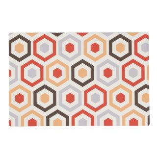 Retro hexagons placemat