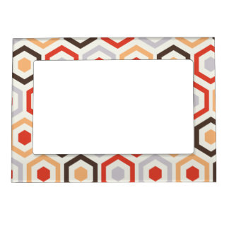 Retro hexagons.png magnetic frame