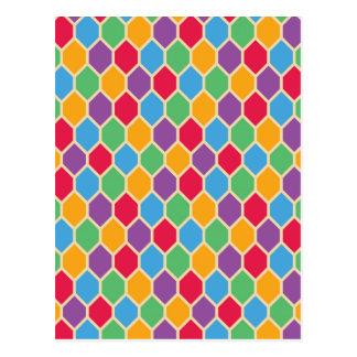 Retro Hexagons Postcard