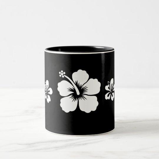 Retro Hibiscus Two-Tone Coffee Mug