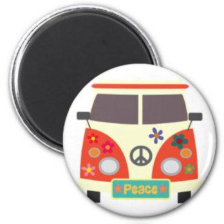 Retro Hippie Bus Magnet