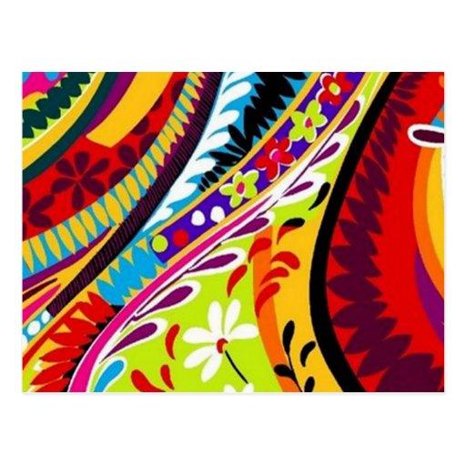 Retro Hippie Designs Postcard
