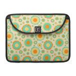 Retro Hippie Dots In Orange, Green, & Tan MacBook Pro Sleeve