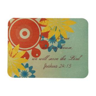 Retro Hippie Flowers Vinyl Magnets