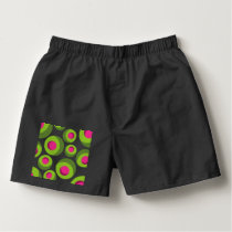 Retro hippie pattern with colored dots boxers