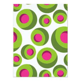 Retro hippie pattern with colored dots card