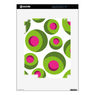 Retro hippie pattern with colored dots decal for iPad 2