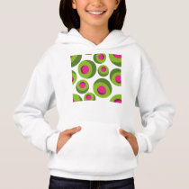 Retro hippie pattern with colored dots hoodie