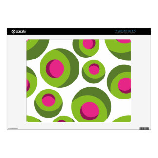 Retro hippie pattern with colored dots laptop skins