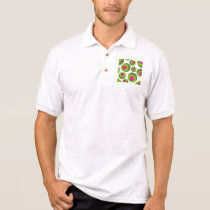Retro hippie pattern with colored dots polo shirt