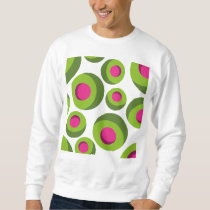 Retro hippie pattern with colored dots sweatshirt