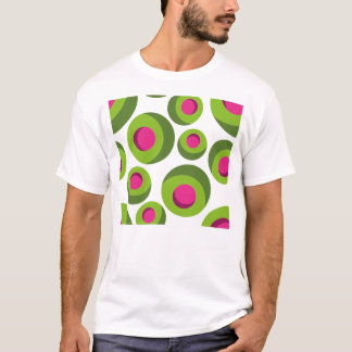 Retro hippie pattern with colored dots T-Shirt