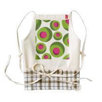 Retro hippie pattern with colored dots zazzle HEART apron